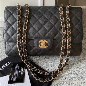 Chanel jumbo caviar bag